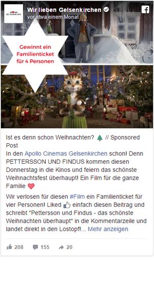 Facebook Post Wir Lieben Gelsenkirchen